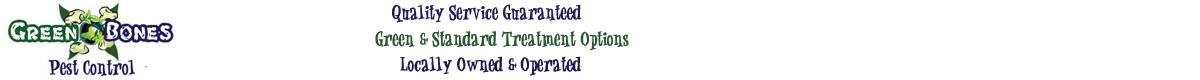 Green Bones Pest Control